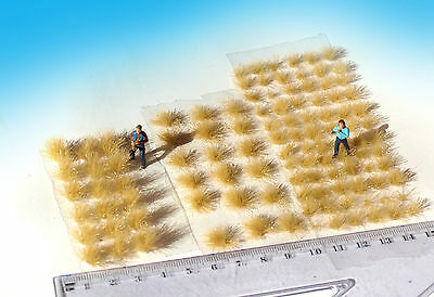 120 pcs Static grass tufts, dry pampas grass mixed sizes. for HO / O scale model