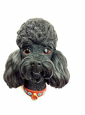 BOSSON'S CHALKWARE Black French Poodle Wall Hang vtg