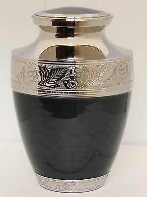 Adult Cremation Ashes Urn Funeral Memorial Remembrance Urn large Dark Grey