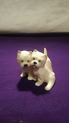 Beswick China - Westie West Highland Terriers (White) - England - Dogs - Animals