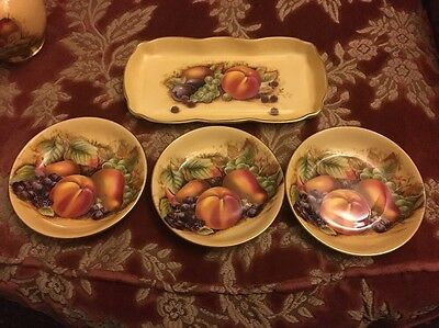4 Pieces Of Aynsley Orchard Gold