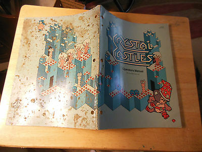 CRYSTAL CASTLES  arcade game owners manual