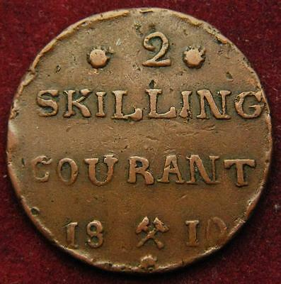 Norway copper 2 skilling 1810 - nice grade