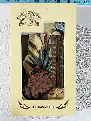 Toad Hollow THermometer 1999 Home and Garden Decor