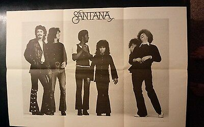 VINTAGE 1970 SANTANA ABRAXAS POSTER 22 by 33 INCHES