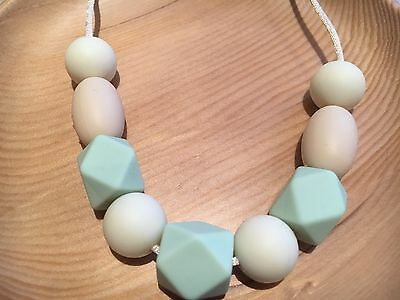 Silicone Sensory Necklace (was Teething) for Mum and Baby Beads Nursing Aus Mint