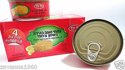 Tuna in the Vegetable Oil Small Piece Four Tin's 4×160gram Total 640 gram Kosher