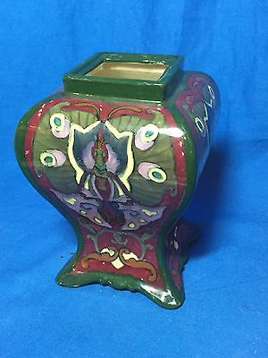 Shelley Wileman Foley Pottery Intarsio #3093 square vase