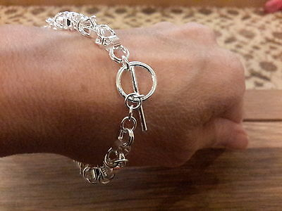 Brand new Silver 925 stamped chunky  Bracelet and gift box