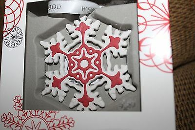 Wedgwood Snowflake Christmas Ornament Red Wedgwood