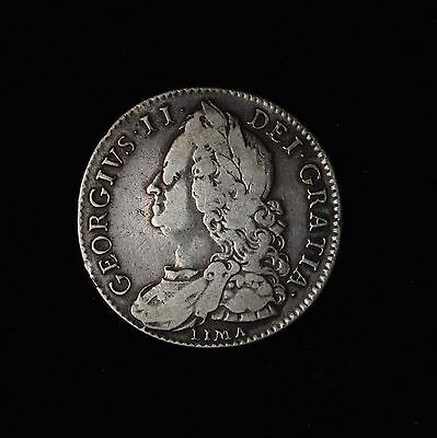 Great Britain Lima George Ii 1746 Silver 1/2C Half Crown