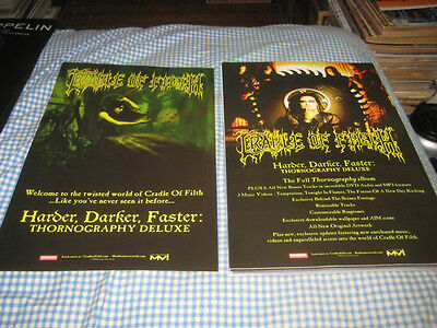 CRADLE OF FILTH-(harder-darker-faster)-1 POSTER-2 SIDED-11X17-NMINT-RARE
