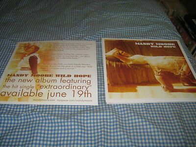 MANDY MOORE-(wild hope)-1 POSTER FLAT-2 SIDED-12X12-NMINT-RARE