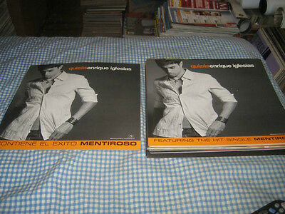 ENRIQUE IGLESIAS-(quizas)-1 POSTER FLAT-2 SIDED-12X12-NMINT-RARE