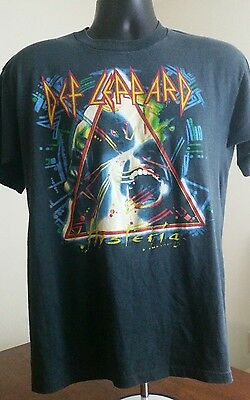 Vintage Def Leppard 1987 Hysteria Tour T-Shirt M Med North American I Tour RARE