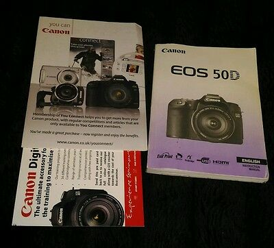 Canon eos 50d genuine original owners manual instruction booklet - UK stock