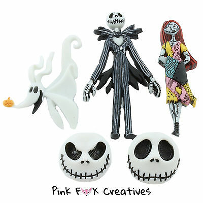 Nightmare Before Christmas Dress It Up Novelty Craft Buttons Jack Sally Disney