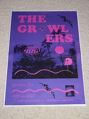 THE GROWLERS - music concert gig tour poster - Buy 1 get 1 Half Price