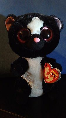 """Ty Beanie Boo - 2015 - Flora the Skunk  -  6"""" -  New with Tags"""