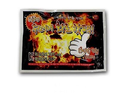 (80g x 10 Pack) Disposable Hand Pocket Warmer Thermal Pouch Powder Pack
