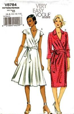 """Vogue Sewing Pattern V8784 8784 """"Very Easy Vogue"""" Dress 6-14 14-22"""