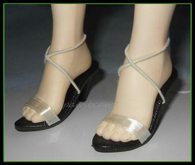 "WHITE Satin Sandals SHOES fit Madame Alexander 21"" 22"" Portrait SCARLETT O'HARA"