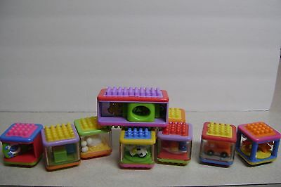 Fisher -Price Stacking Peek-a-Boo Blocks Lot 10 - 1 is XL