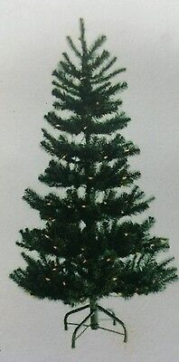 """*Artificial Pre-lit Slim Tree BLACK Christmas 6 1/2 feet/8 ' in stand/34"""" wide"""