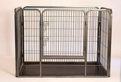 Heavy Duty Rectangle Tube pen Dog Cat Pet Training Kennel Crate 28in Height