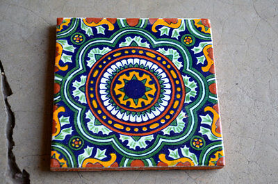 """10 Mexican tiles 4x4"""" mixed Handmade and Handpainted"""