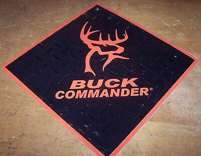Buck Commander Diamond Aluminum Wall Sign Duck Dynasty Orange Black Man Cave