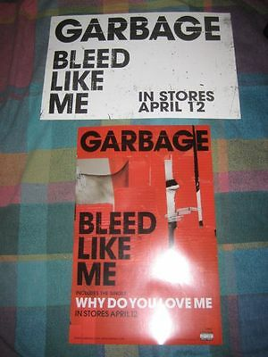 GARBAGE-(bleed like me-2)-11X17 POSTER-2 SIDED-MINT-RARE