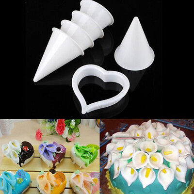 Calla Lily Flower Cake Decorating Craft Fondant Icing Tool Mold Plunger Cutters