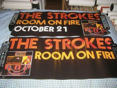 THE STROKES-(room on fire)-1 POSTER-2 SIDED-12X28-NMINT-RARE