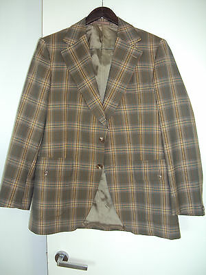 DUNN & Co, Vintage wool checkered Blazer/jacket, custom made, fits size M? L?