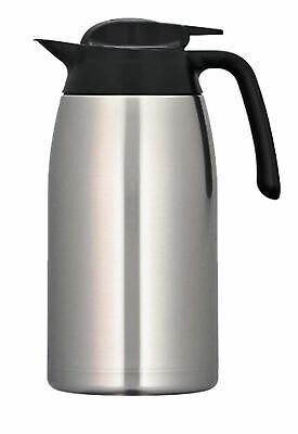 NEW THERMOS STAINLESS STEEL 2L CARAFE Handle Double Wall Vacuum Insulated SS