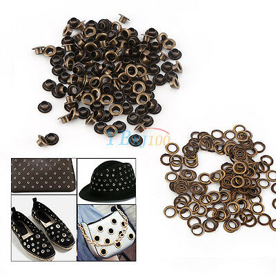 100pcs Metal Eyelets Grommets + Washers Set for Leather Craft DIY Sewing Durable