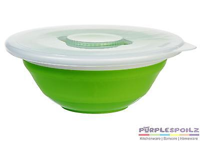 NEW PROGRESSIVE COLLAPSIBLE SALAD BOWL+LID Dressing Container Caravan Camping