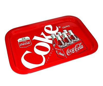 NEW COKE SERVING TRAY Retro Holder Diner Bar Board Tin Collectible Authentic