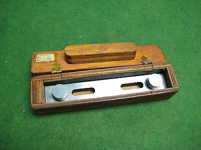 """6"""" Machinist Toolmaker Sine Bar with fitted Wooden Box"""