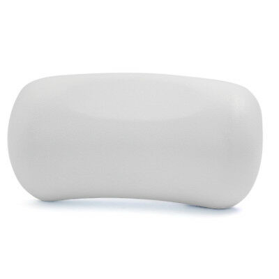 White Neck Back Support Headrest Tub Bath Spa Pillow Cushion w/ 2 Suction Cups