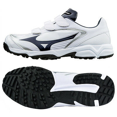 Mizuno Men's Select 9 Trainer CR Baseball Cleats Navy / White 11GT172214