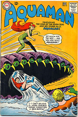 """AQUAMAN #13 1964 FN+ 2ND APPEARANCE OF MERA """"Invasion Of Giant Reptiles"""" AQUALAD"""