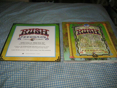 RUSH-(feedback)-1 POSTER FLAT-2 SIDED-12X12-NMINT-RARE