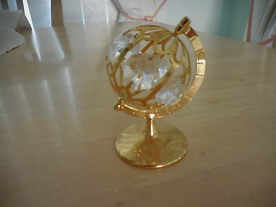 Crystal Temptations Gold Plated World Globe Ornament