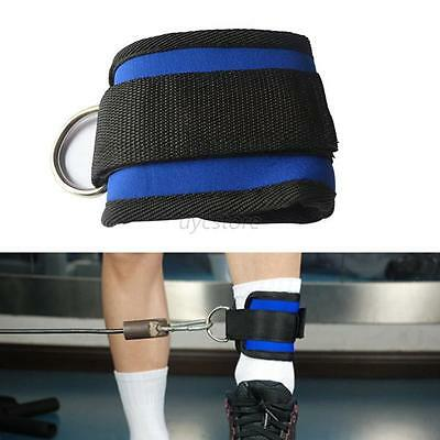 Ankle D-Ring Strap Gym Cable Attachment Leg Thigh Pulley Weighting Accessory