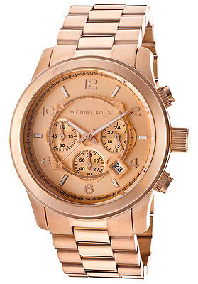 Michael Kors Runway Chronograph Rose Gold-tone Unisex Watch MK8096