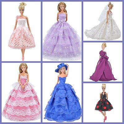 E-TING Doll Clothes Wedding Dress Party Gown Accessories For Barbie Dolls K