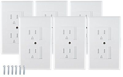 Mommy''s Helper Safe Plate Electrical Outlet Covers Standard, White, 6 Pack