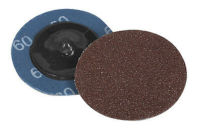 Sealey PTCQC5060 Quick Change Sanding Disc �50mm 60Grit Pack of 10